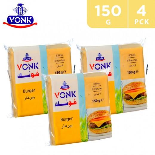 Vonk Burger 8 Slices Cheese 4 x 150 g