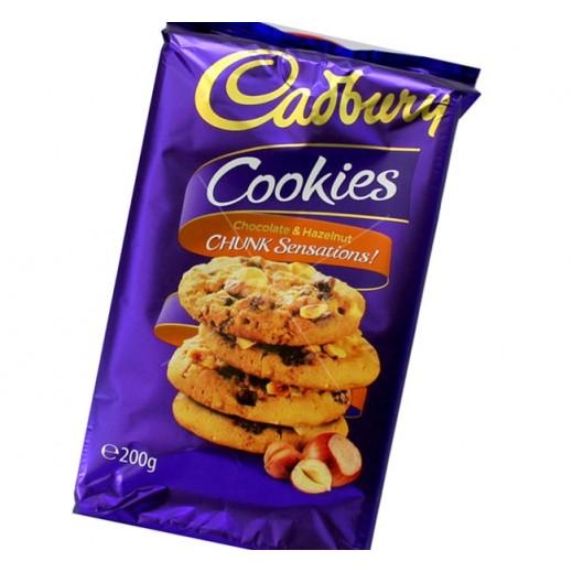 Cadbury Chocolate & Hazelnut Chunky Cookies 200 g