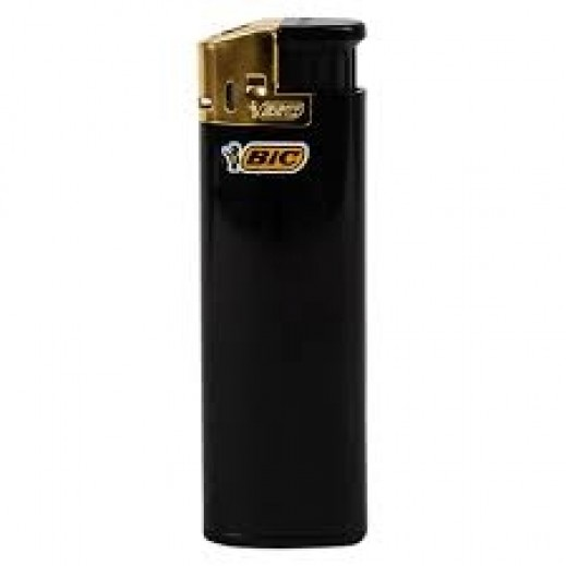 Bic Lighter Gold Black 1 Piece