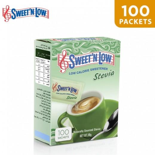 Sweet N Low Stevia Sweetener 100 Sachets