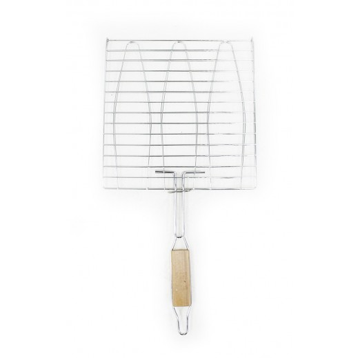 LP Stainless Steel Fish BBQ Grilling Net 28x28 cm