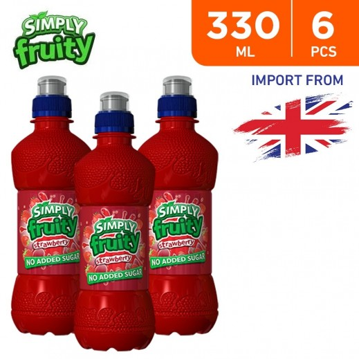 Simply Fruity No Added Sugar Strawberry Juice Drink 6 x 330 ml