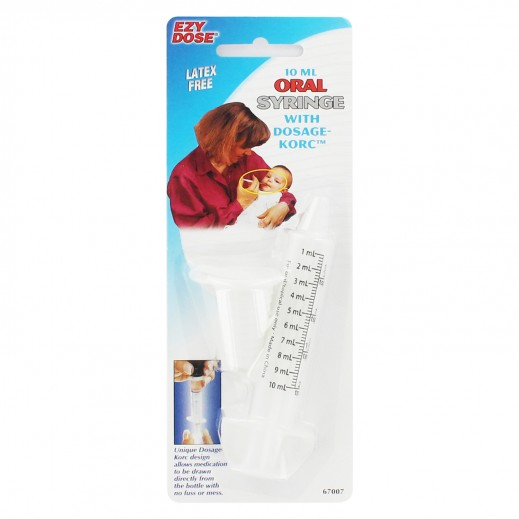 Ezy Dose 10ml Oral Syringe With Dosage