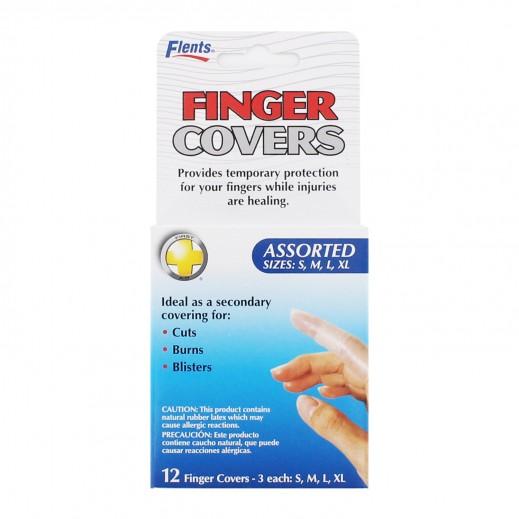 Flents Assorted Finger Covers 12 Pcs