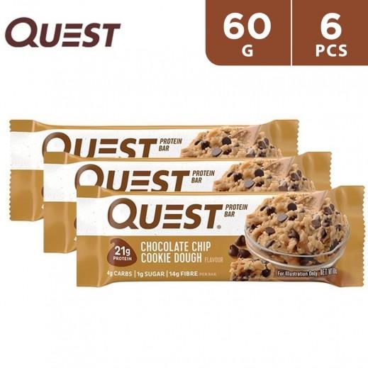 QuestBar Chocolate Cookie Dough Protein Bar 6 x 60 g
