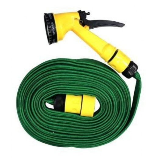 Amco – Multi functional Hose with Nozzle Spray 15.2 M – Green