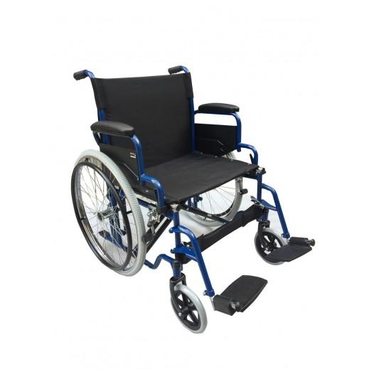 Al Essa Standard Wheelchair 22 inch with soild pu Tyre/spoke wheel - Blue - delivered by Al Essa After 2 working Days