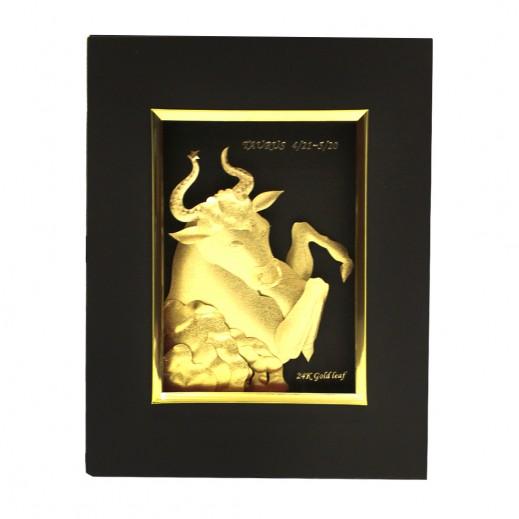 Q Best 24K Gold Foil 3D Tarus Constellation