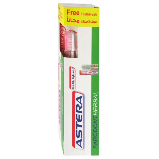 Astera Parodont Herbal Toothpaste 75 ml + Toothbrush Free