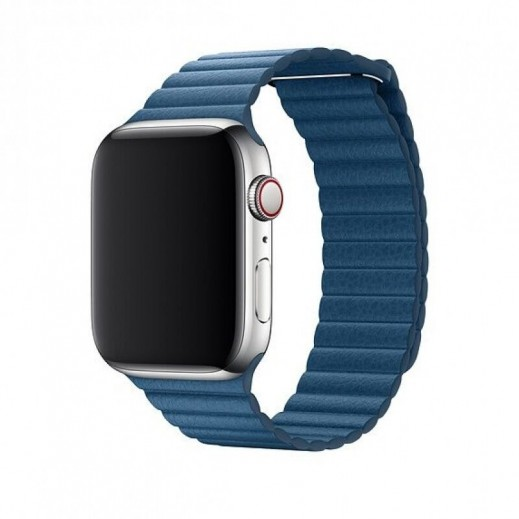 Devia Elegant Leather Band for Apple Watch 42/44 mm - Blue