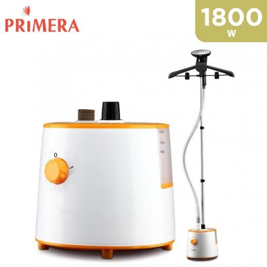 Primera 1800 W Garment Steamer- White & Orange