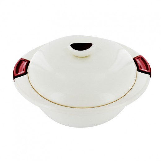 Indit Eleganza Round Food Server 1.1 ltr Red