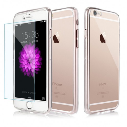 Buy 1 Get 1 Free 360 Protect Case With Tempered Glass For Iphone 6 Plus Clear