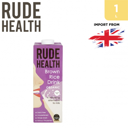 Rude Health Organic Gluten Free Brown Rice Drink 1 L