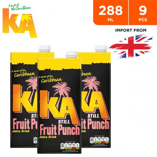 Ka Still Fruit Punch Fruit Drink 9 x 288 ml
