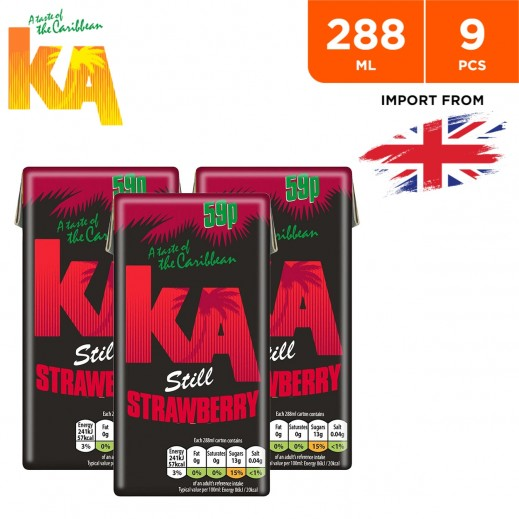 Ka Still Strawberry Fruit Drink 9 x 288 ml