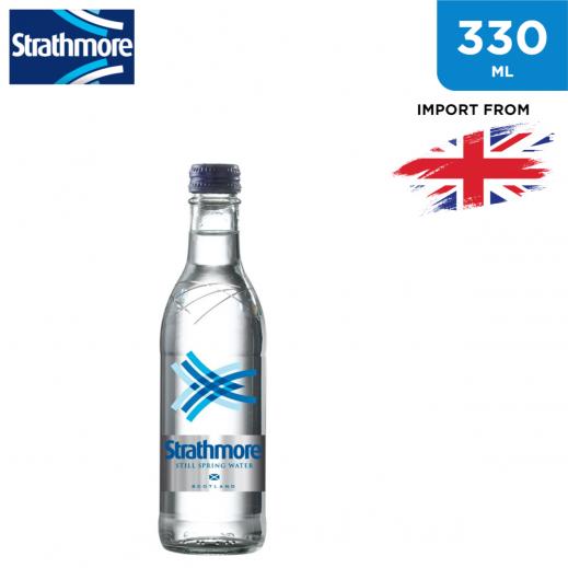 Strathmore Still Spring Water Glass Bottle 330 ml