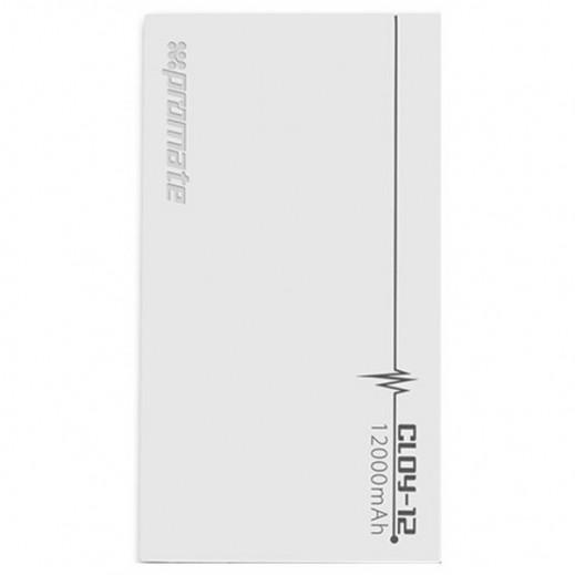 Promate Cloy-12 Premium 12,000mAh Backup Battery White