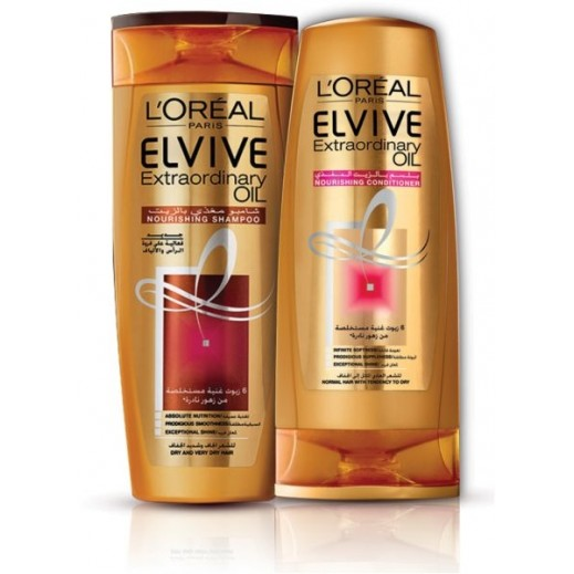 L'Oreal Elvive Extraordinary Oil Deep Nourishing Oil Shampoo Dry 400 ml + Conditioner 400 ml