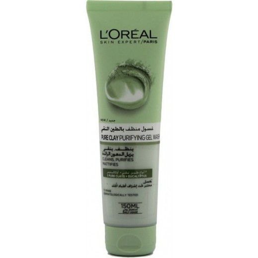 L'Oreal Pure Clay Eucalyptus Purifying Gel Wash 150 ml