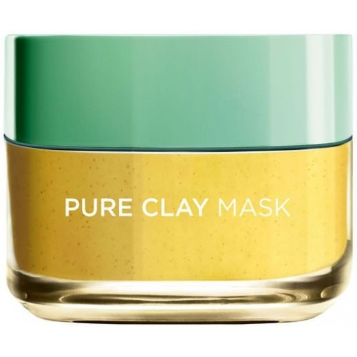 L'oreal Pure Clay Mask With Lemon Extract 50 ml