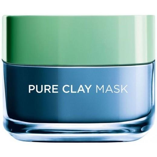 L'oreal Pure Clay Mask With Marine Algae 50 ml