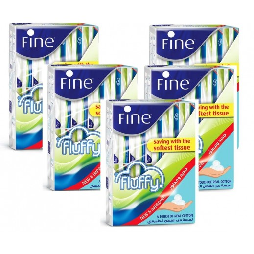 Fine Fluffy Facial Tissues 150 x 2 ply (50 Pieces)
