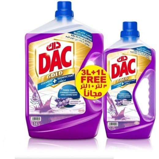 DAC Super Disinfectant Liquid Lavender 3 L + 1 L Free