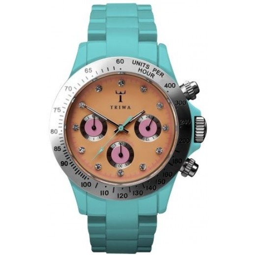 Triwa Chronicle Minichrono Unisex Watch Turquoise And Orange CRPU124