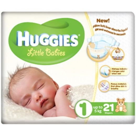 Huggies Stage 1 (Up to 5kg) 21 Pieces