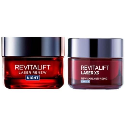 L'Oreal Revitalift Laser X3 Day Cream 50 ml + Night Cream  50 ml