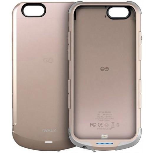 iWalk Chameleon Immortal Power Case For Iphone 6 2400mAh Gold
