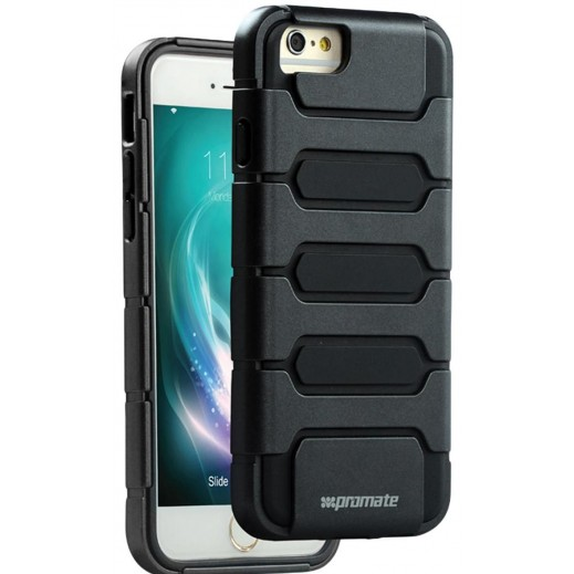 Promate Tough Shell Protective Combo Case for iPhone 6/6S Plus Black