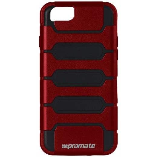 Promate Tough Shell Protective Combo Case for iPhone 6/6S Plus Maroon