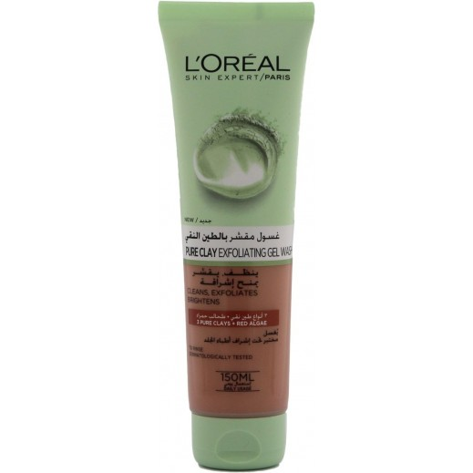 L'Oreal Pure Clay Red Algae Exfoliating Gel Wash 150 ml