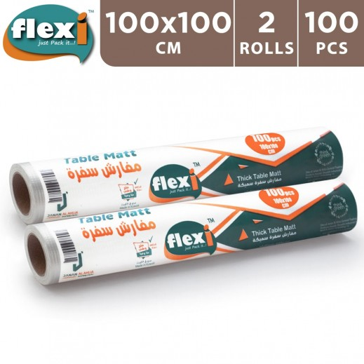 Flexi Table Mat 100 x 100 cm - 2 x 100 Pieces