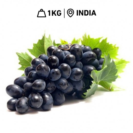 FRESH INDIAN Black GRAPES (1 KG APPROX)