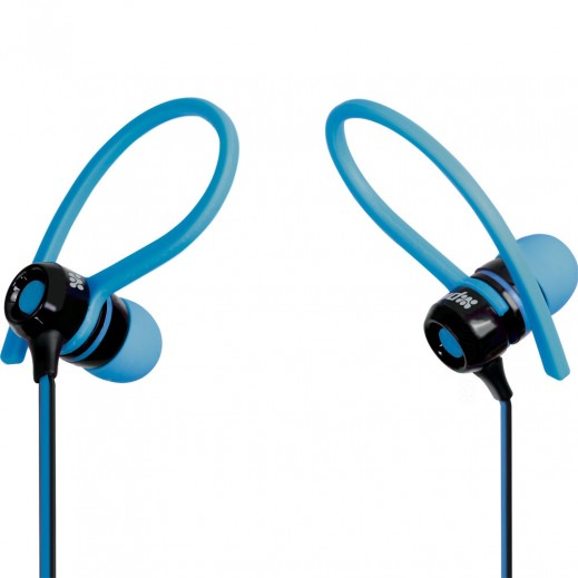 Promate Jazzy Universal Sporty Stereo Clip-on In-Line Gear-Buds Blue