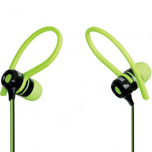 Promate Jazzy Universal Sporty Stereo Clip-on In-Line Gear-Buds Green