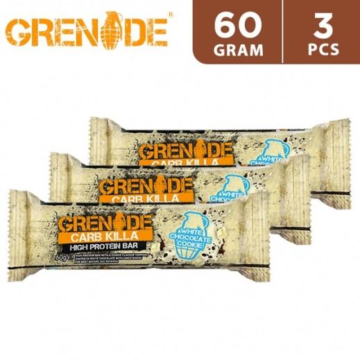 Grenade High Protein Bar 23P White Chocolate Cookie 3 x 60 g