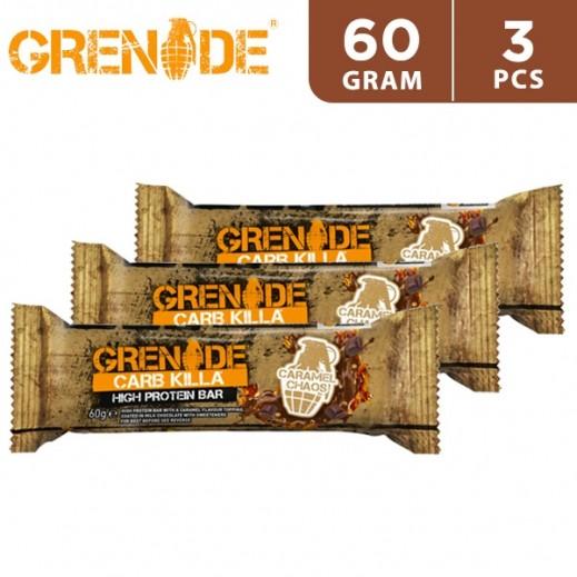 Grenade High Protein Bar 23P Caramel Chaos 3 x 60 g