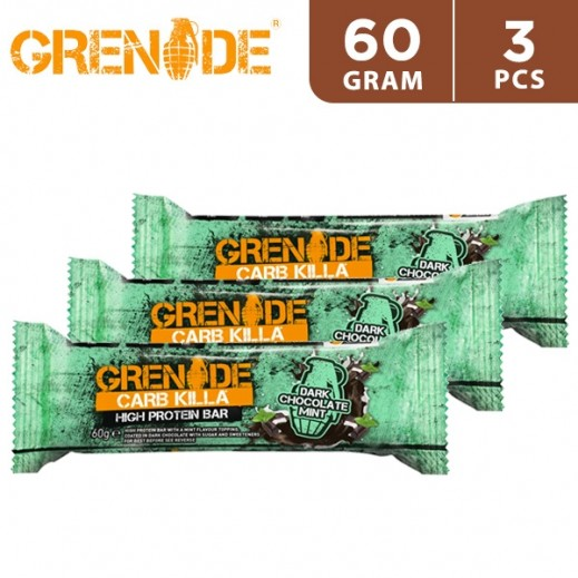 Grenade High Protein Bar 22P Dark Chocolate Mint 3 x 60 g