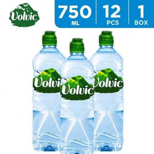Volvic Sport Cap Mineral Water 12 x 750 ml