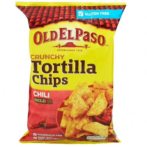 Old El Paso Gluten Free Crunchy Tortilla Chips Chilli Mild 185 g