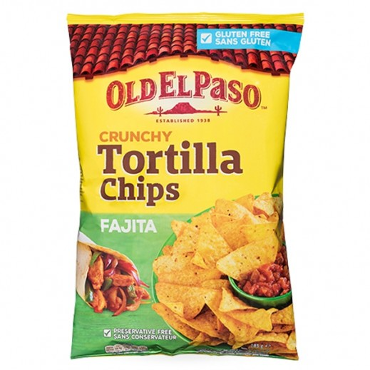 Old El Paso Gluten Free Crunchy Tortilla Chips Fajitas 185 g