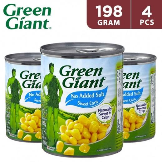 Green Giant Corn No Salt & Sugar 4 x 198 g