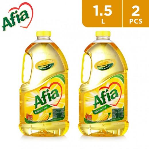 Afia Pure Sunflower Cooking Oil 2 x 1.5 L