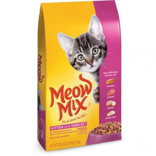 Meow Mix Kitten Lil Nibbles (Cats Food) 1.43 kg