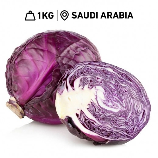 Fresh Saudi Red Cabbage (1 kg Approx.)