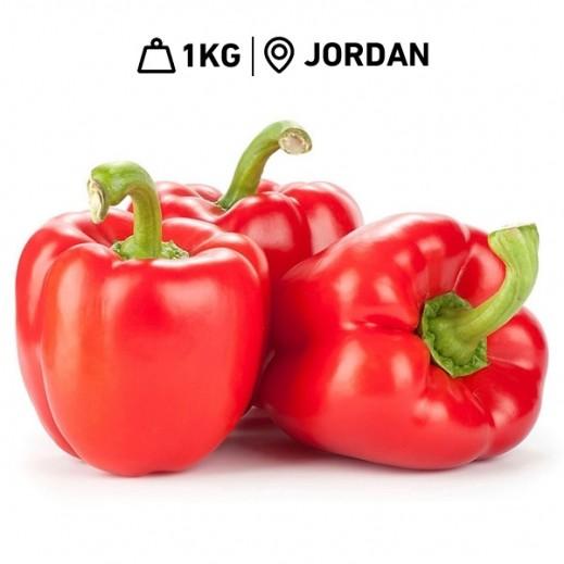 Fresh Jordanian Red Capsicum (1 kg Approx.)